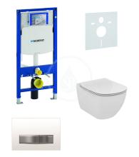 Geberit Duofix Sada pro závěsné WC + klozet a sedátko softclose Ideal Standard Tesi - sada s tlačítkem Sigma50, výplň bílá 111.300.00.5 NE8