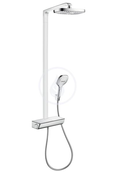Showerpipe 300 2jet EcoSmart, termostatická sprchová baterie, sprchové rameno 380 mm, chrom