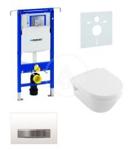 Geberit Duofix Sada pro závěsné WC + klozet a sedátko softclose Villeroy & Boch - sada s tlačítkem Sigma50, výplň bílá 111.355.00.5 NB8