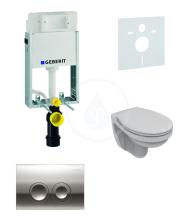 Geberit Kombifix Sada pro závěsné WC + klozet a sedátko Ideal Standard Quarzo - sada s tlačítkem Delta21, chrom 110.100.00.1 NR2