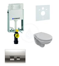 Geberit Kombifix Sada pro závěsné WC + klozet a sedátko Ideal Standard Quarzo - sada s tlačítkem Delta50, chrom 110.100.00.1 NR5