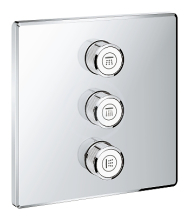 Grohe Grohtherm SmartControl Ventil pod omítku pro 3 spotřebiče, chrom 29127000