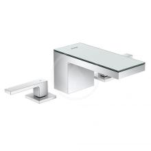 Axor Umyvadlová baterie s výpustí Push-Open, 3-otvorová instalace, chrom/zrcadlové sklo 47050000