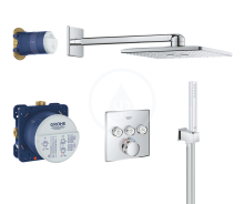 Grohe Grohtherm SmartControl Perfect Sprchový set s termostatem pod omítku, 310 mm, chrom 34706000