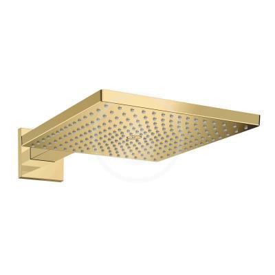 Horní sprcha E 300 s ramenem, leštěný vzhled zlata