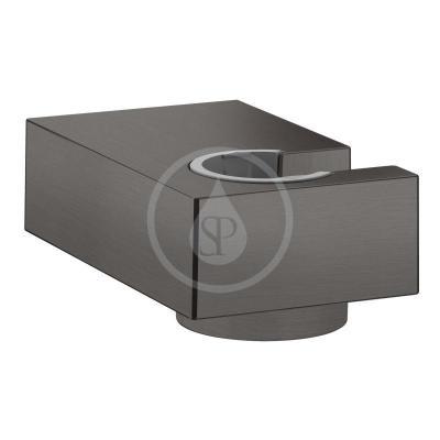 Nástěnný držák sprchy Porter E, kartáčovaný černý chrom