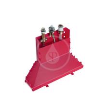 Základní těleso tříotvorové vanové pákové baterie na okraj vany