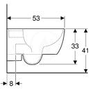 Závěsné WC, 355x530 mm, s KeraTect, bílá
