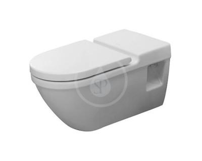 Závěsné WC, bezbariérové, s HygieneGlaze, alpská bílá