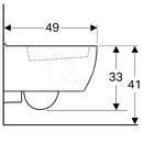 Závěsné WC, 350x490 mm, s KeraTect, bílá