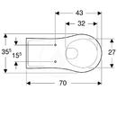 Závěsné WC, 355x700 mm, bílá
