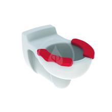 Závěsné dětské WC, 330x535 mm, bílá/karmínová plocha