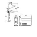 Dřezový ventil Mono Connected, s chladícím zařízením a filtrací, kartáčovaný Hard Graphite