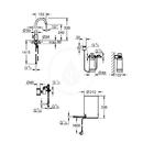 Dřezový ventil Mono s ohřevem vody a filtrací, zásobník M, kartáčovaný Hard Graphite