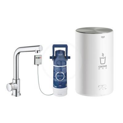 Dřezový ventil Mono s ohřevem vody a filtrací, zásobník M, chrom