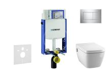 Geberit Kombifix Set předstěnové instalace, sprchovací toalety a sedátka Tece, tlačítka Sigma30, Rimless, SoftClose, chrom 110.302.00.5 NT6