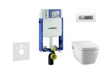 Set předstěnové instalace, sprchovací toalety a sedátka Tece, tlačítka Sigma50, Rimless, SoftClose, alpská bílá