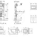 Set předstěnové instalace, sprchovací toalety a sedátka Tece, tlačítka Sigma30, Rimless, SoftClose, chrom