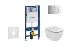Geberit Duofix Set předstěnové instalace, klozetu a sedátka Ideal Standard, tlačítka Sigma01, Aquablade, SoftClose, lesklý chrom 111.300.00.5 NU2