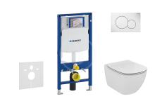 Geberit Duofix Set předstěnové instalace, klozetu a sedátka Ideal Standard, tlačítka Sigma01, Aquablade, SoftClose, alpská bílá 111.300.00.5 NU1
