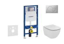 Geberit Duofix Set předstěnové instalace, klozetu a sedátka Ideal Standard, tlačítka Sigma01, Aquablade, SoftClose, matný chrom 111.300.00.5 NU3
