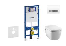 Geberit Duofix Set předstěnové instalace, sprchovací toalety a sedátka Tece, tlačítka Sigma50, Rimless, SoftClose, alpská bílá 111.300.00.5 NT8