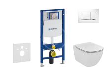 Geberit Duofix Set předstěnové instalace, klozetu a sedátka Ideal Standard, tlačítka Sigma30, Aquablade, SoftClose, bílá/chrom 111.300.00.5 NU5