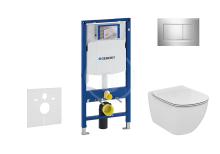 Geberit Duofix Set předstěnové instalace, klozetu a sedátka Ideal Standard, tlačítka Sigma30, Aquablade, SoftClose, chrom 111.300.00.5 NU6