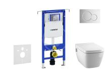 Geberit Duofix Set předstěnové instalace, sprchovací toalety a sedátka Tece, tlačítka Sigma01, Rimless, SoftClose, lesklý chrom 111.355.00.5 NT2