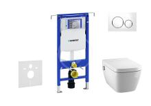 Geberit Duofix Set předstěnové instalace, sprchovací toalety a sedátka Tece, tlačítka Sigma20, Rimless, SoftClose, bílá/chrom 111.355.00.5 NT4