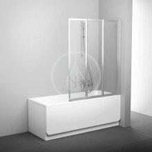 Vanová zástěna skládací třídílná VS3 100, 996x1400 mm, bílá/transparentní sklo