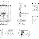 Set předstěnové instalace, klozetu a sedátka Ideal Standard, tlačítka Sigma01, Aquablade, SoftClose, alpská bílá