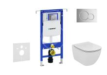 Geberit Duofix Set předstěnové instalace, klozetu a sedátka Ideal Standard, tlačítka Sigma01, Aquablade, SoftClose, lesklý chrom 111.355.00.5 NU2