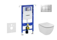 Geberit Duofix Set předstěnové instalace, klozetu a sedátka Ideal Standard, tlačítka Sigma30, Aquablade, SoftClose, chrom mat/chrom 111.355.00.5 NU7