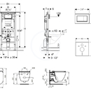 Set předstěnové instalace, klozetu a sedátka Ideal Standard, tlačítka Sigma30, Aquablade, SoftClose, chrom