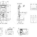 Set předstěnové instalace, klozetu a sedátka Ideal Standard, tlačítka Sigma50, Aquablade, SoftClose, alpská bílá