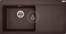 Franke Mythos Granitový dřez, MTG 611/2, 1000x515 mm, tmavě hnědá 114.0250.544