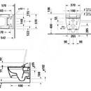 Závěsné WC pro bidetové sedátko SensoWash, Rimless, DuraFix, alpská bílá