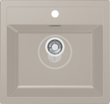 Franke Sirius Tectonitový dřez SID 610, 560x530 mm, kávová 114.0264.013