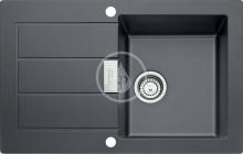 Franke Tectonitový dřez SID 611-78, 780x500 mm, černá 114.0120.455