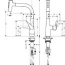 Dřezová baterie Metris Select s výsuvnou sprškou, chrom
