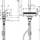 Dřezová baterie Aquno Select s výsuvnou koncovkou a plochým sprchovým proudem, vzhled nerezu