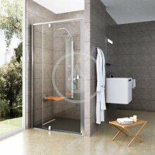 Sprchové dveře PDOP2-100, 961-1011 mm, satin/čiré sklo