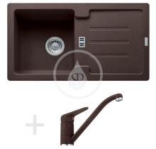Franke Sety Kuchyňský set G89, granitový dřez STG 614-78, tmavě hnědá + baterie FC 9541, tmavě hnědá 114.0366.007