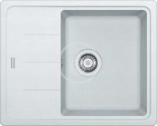 Franke Basis Fragranitový dřez BFG 611-62, 620x500 mm, bílá-led 114.0285.103