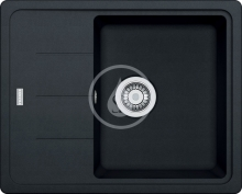 Franke Basis Fragranitový dřez BFG 611-62, 620x500 mm, onyx 114.0285.105