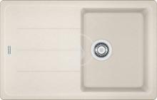 Franke Basis Fragranitový dřez BFG 611-78, 780x500 mm, vanilka 114.0285.191