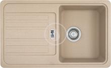 Franke Euroform Fragranitový dřez EFG 614-78, 780x475 mm, pískový melír 114.0120.087