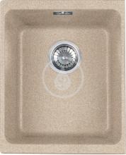 Franke Kubus Granitový dřez KBG 110-34, 367x460 mm, pískový melír 125.0176.655