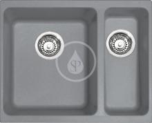 Franke Kubus Fragranitový dřez KBG 160/2, 558x460 mm, šedý kámen 125.0120.166